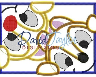 Peeking Chip and Dale - Embroidery Machine Design - Applique - Instant Download - David Taylor Digitizing