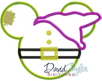 Mickey head - Dopey - Embroidery Machine Design - Applique - Instant Download - David Taylor Digitizing