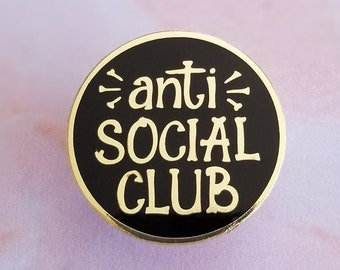 Anti Social Club Hard Enamel Pin Badge