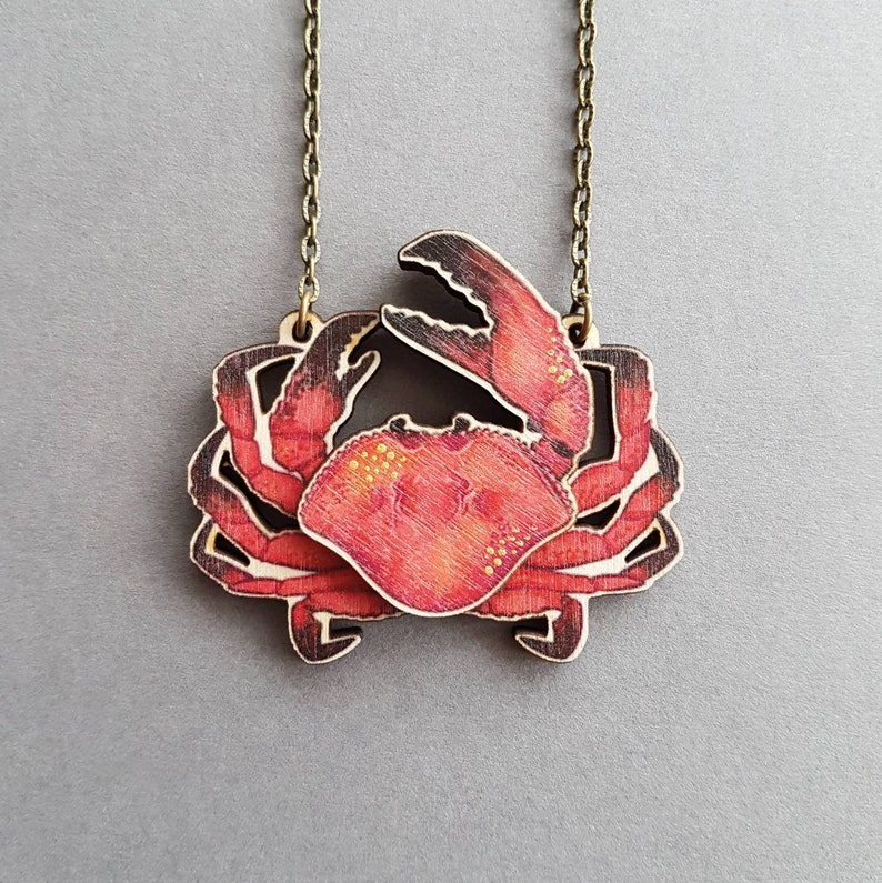 collier crabe homme