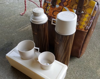 Vintage Thermos picnic set