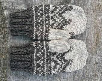 Warm winter mittens