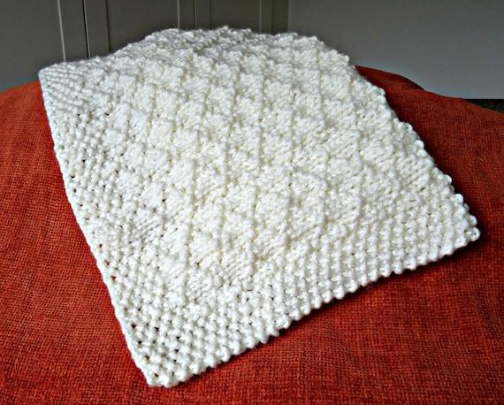 Easy knitting pattern baby blanket super chunky criss ...