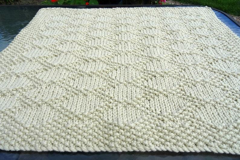 Easy Knitting Pattern Baby Blanket Snuggled In Etsy