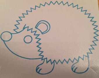 "3"" Vinyl Hedgehog Decal"
