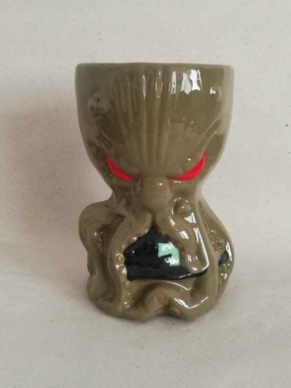 Large groot candle handemade