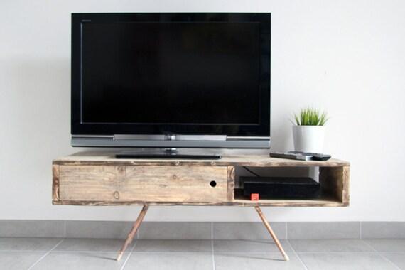 Meuble Tvtable Basse Umesh En Bois De Palette Recyclé Brut Etsy
