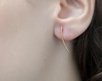 Bar Earrings, Line Earrings, Stick Earrings, Bar Stud Earrings in Silver or Gold fill