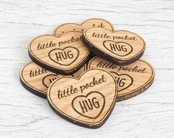 Little Pocket Hug Heart Tokens for Loved Ones in need of a Hug Keepsake Gift