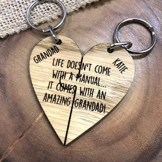 Life Doesn't Come With A Manual It Comes With A Gran And Grandad Keyring Set