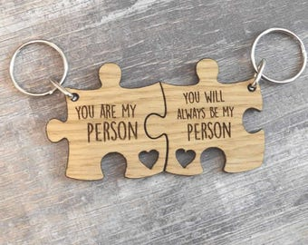 You're My Person You'll Always Be My Person Grey's Anatomy Inspired Keyring Set