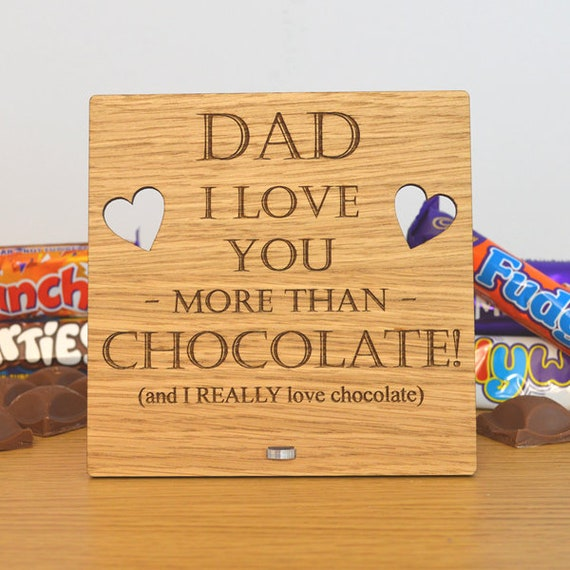 personalised fathers day gift idea like a dad oak veneer free standing jigsaw