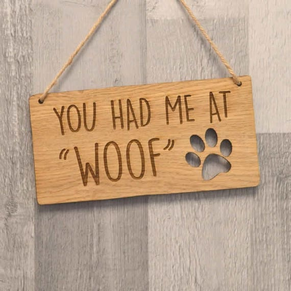 Dog lovers wooden plaque Plaques & Signs