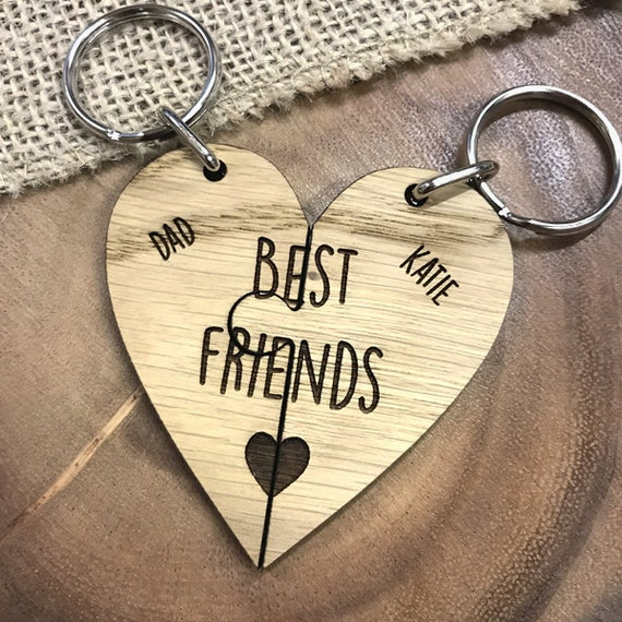 The Love Between A Father And Daughter Is Forever Unique Jigsaw Dad Keyring Set