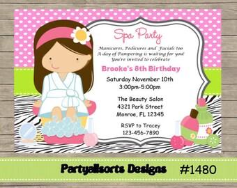 DIY - Spa/ Pamper Invitations