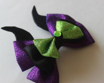 Maleficent Evil Fairy Inspired Boutique Bow