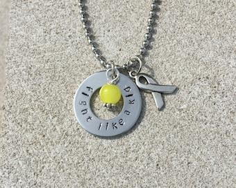 Childhood cancer awareness necklace