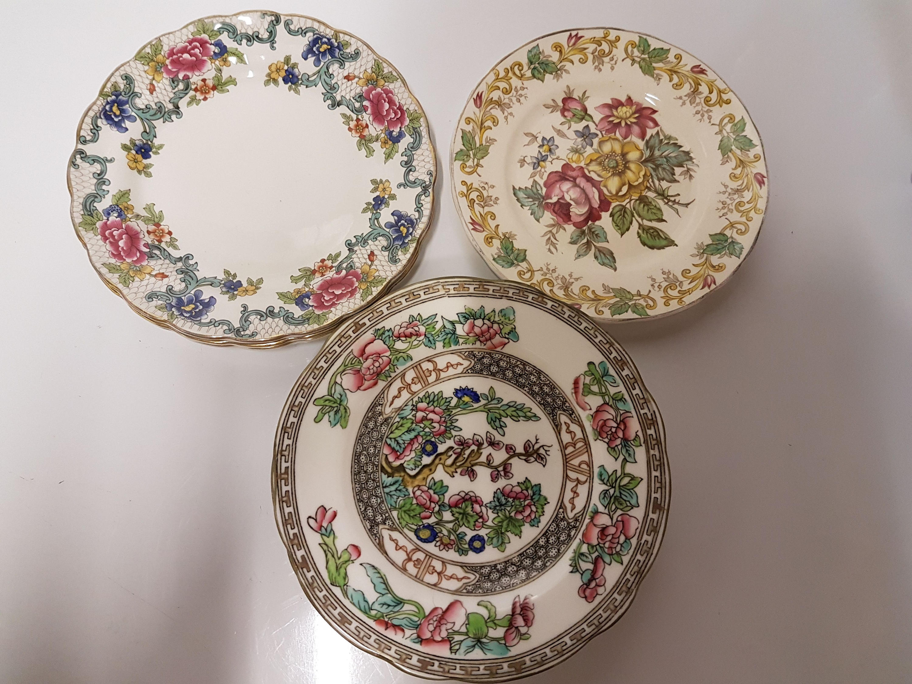 8 x Vintage Mismatched China Tea Plates / Side Plates ~ Including Coalport Indian Tree \u0026 Booths Floradora ~ Wedding Reception Tea Party & 8 x Vintage Mismatched China Tea Plates / Side Plates ~ Including ...
