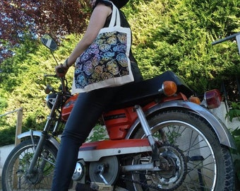 Tote Bag zippered, cloth bag, shopping bag, zippered pocket
