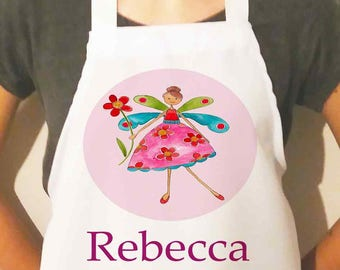 Personalised Apron -Children's Aprons - Girls Apron - Name Apron - Personalised Gift- Girls Birthday -Various Designs