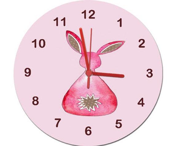 Wanduhr Mädchen Mädchen Zimmer Clock Non Tickende Uhr Kids | Etsy
