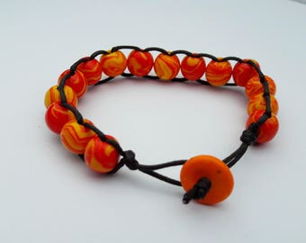Beaded Criss Cross Bracelet