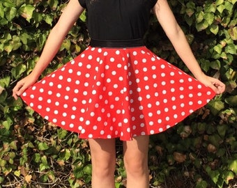 83df61f10 Minnie Mouse Inspired Disneybound Circle Skirt