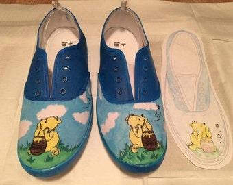 b3774202083d Handmade Winnie The Pooh inspired Shoes