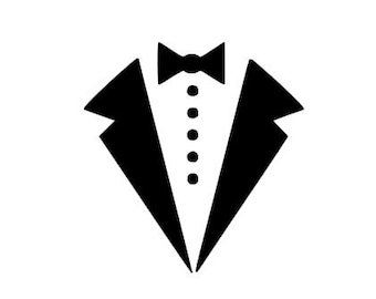 Tuxedo Bow Tie instant download for cutting machines - SVG DXF EPS ps studio3 studio