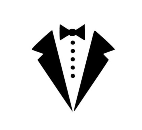 tuxedo bow tie instant download for cutting machines