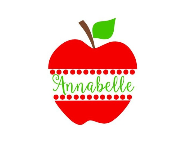 Apple Monogram Instant Download Cut File For Cutting Machines Etsy