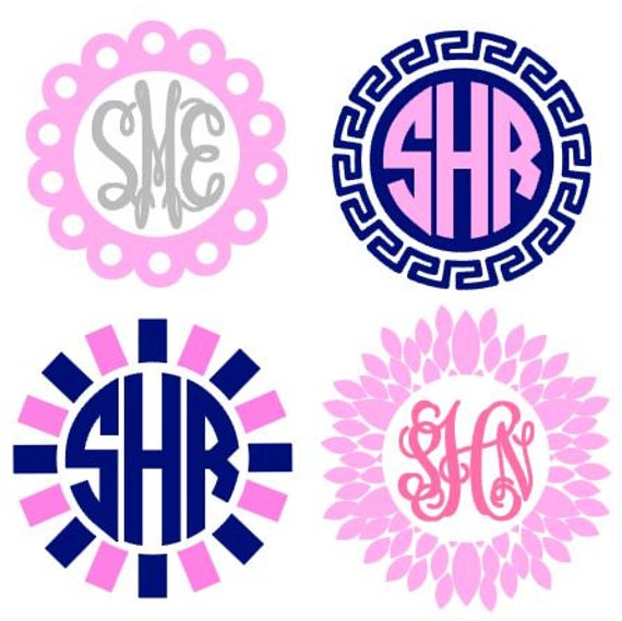 Monogram Frames instant download for cutting machines SVG | Etsy