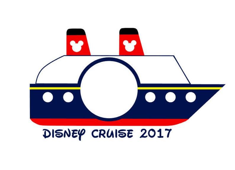 Disney Cruise Monogram Frame instant download digital cut file - SVG DXF  EPS ps Studio3 Studio (monogram font sold separately)