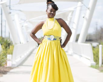 SALE Yellow Evening Prom Gown