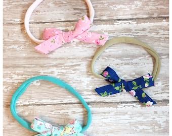Headband - Baby - One size - Floral headband - spring - summer - nylon headband - toddler - girls headband -hairbow - Gift set - Baby gift
