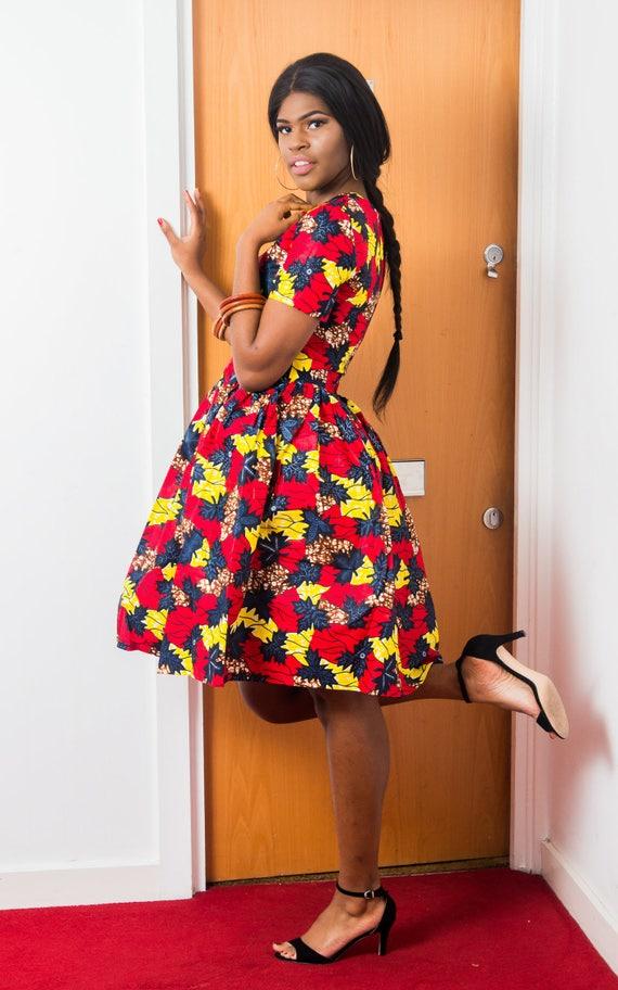 Rumba Rumba Rumba Midi African Midi Rumba Dress Dress African Midi Dress Rumba African Dress Midi African African OpTOr