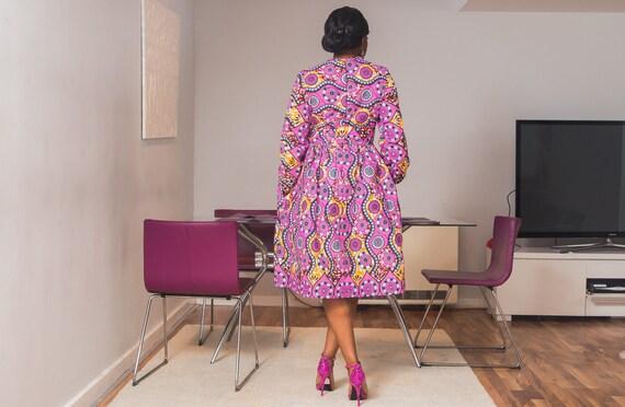 African Choupi Choupi Midi African Dress BZw0O
