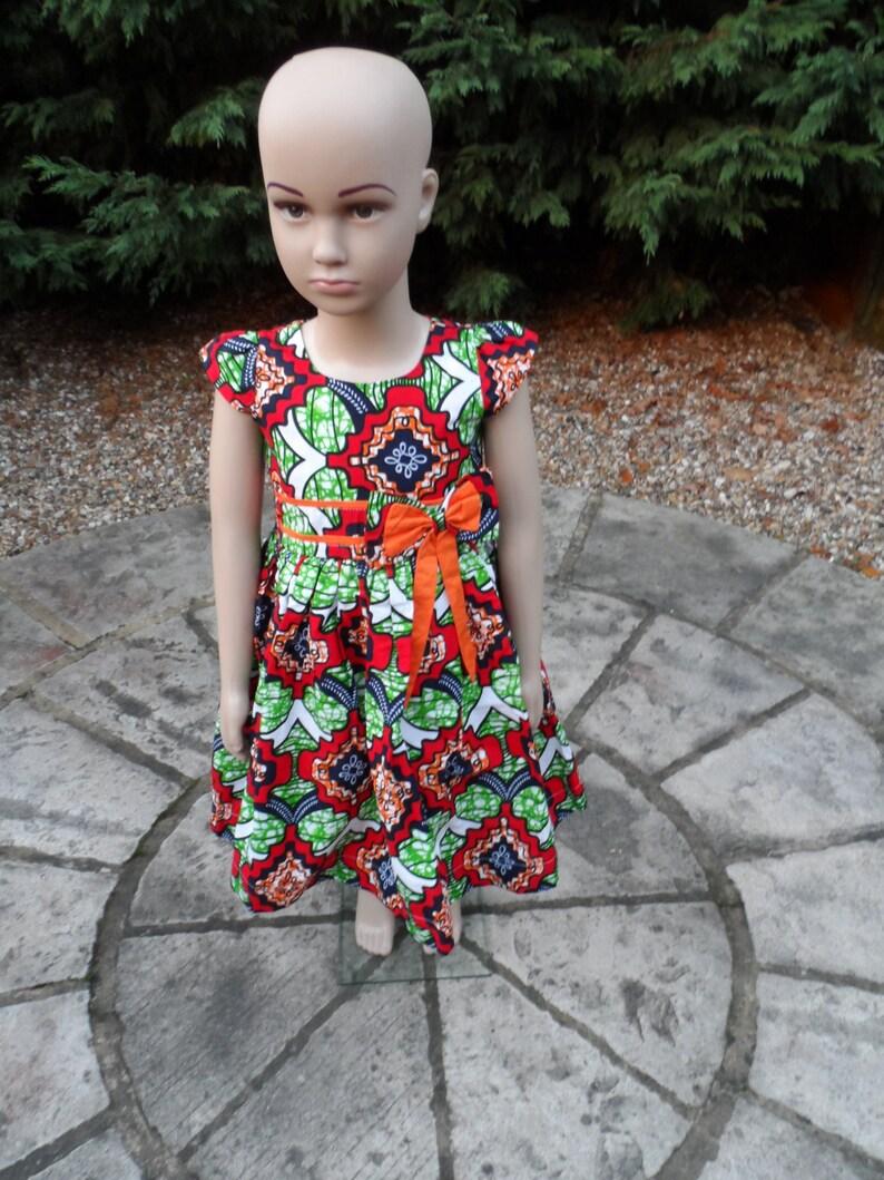 African Print Girls Dress Church Dress Ankara baby dress African kid/'s clothes Mamadou Dress Little Girl/'s Dress Ankara Girls Dres