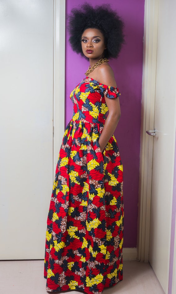 Noemi African African Maxi Noemi Dress qfFrq7