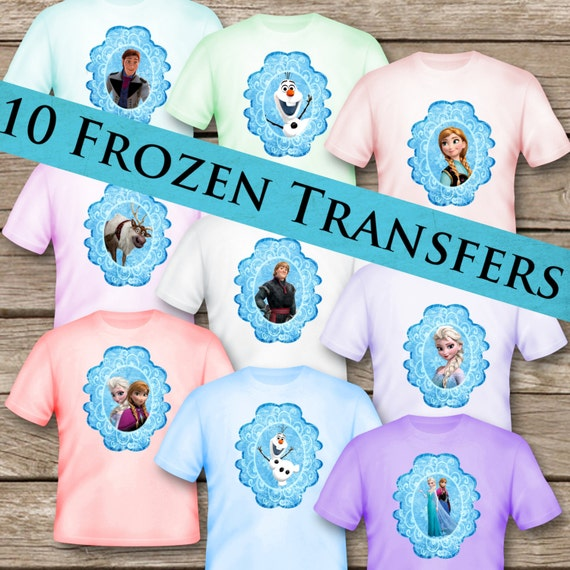 graphic relating to Printable Tshirt Transfers identified as 10 Frozen T-Blouse Transfers! Electronic Obtain! Printable Tshirt!