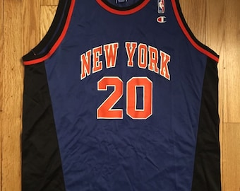 9b1e6242e Rare Vintage Allan Houston New York Knicks Jersey  20 Mens Size 52