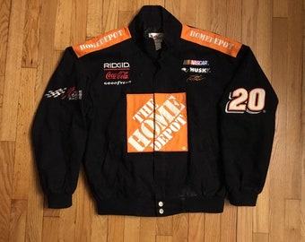 f1a4a04a8c8 Rare Vintage Home Depot Nascar Racing Tony Stewart Jacket Mens Size Medium  Chase Athletics
