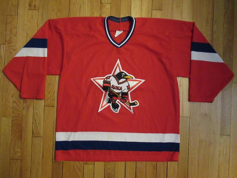 Vintage RUSSIA 4CKA Soviet Union Hockey Russian CCM Jersey  430ca4211
