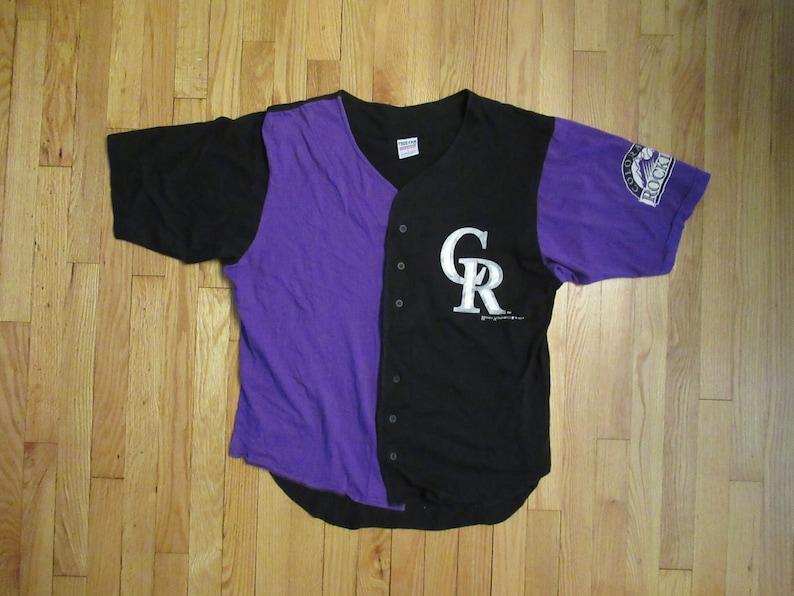 buy online 7e20c 5e285 Rare Vintage 1994 Colorado Rockies True Fan Baseball Jersey Size Large