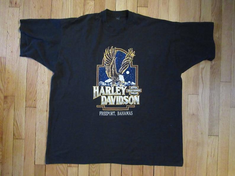 7393b832fd60 Rare Vintage Harley-Davidson Eagle Freeport Bahamas T-Shirt