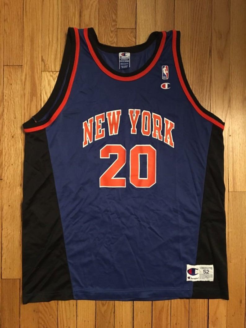 save off d4dc8 0e89d Rare Vintage Allan Houston New York Knicks Jersey #20 Mens Size 52