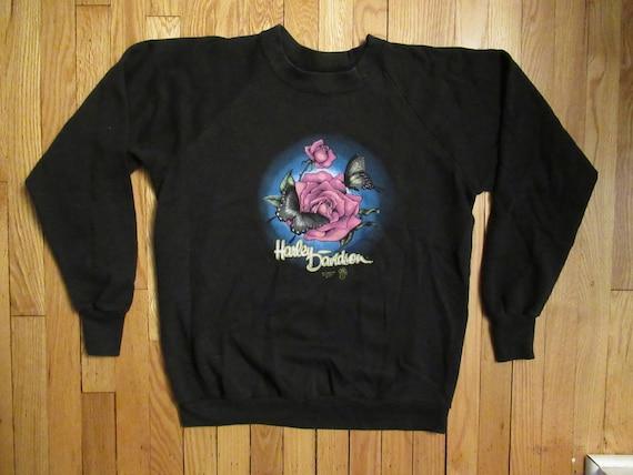 Harley-Davidson Kid Girls Thermal Henley Butterfly Shirt Long Sleeve