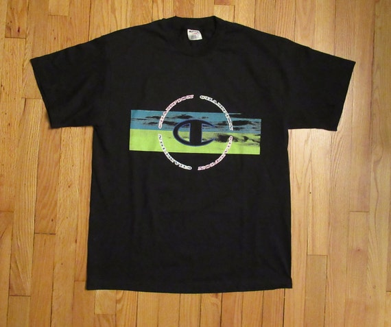 ea0272b63 Rare Vintage Champion Graphic Fade T-Shirt Size Large 100%