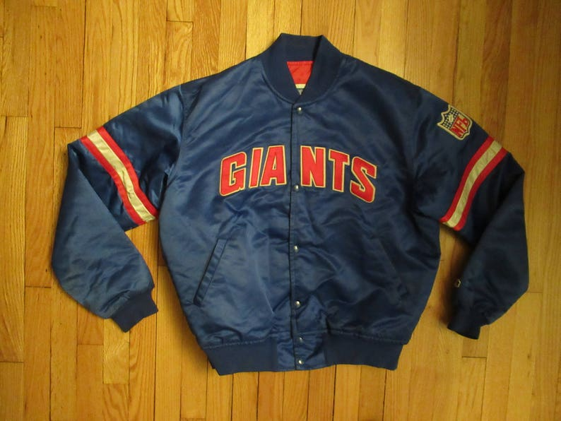 f1be30fec33 STARTER Vintage New York Giants NFL Jacket Bomber USA