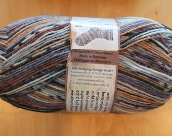 box C : Opal Sock Yarn Opal Feelings odd label oldie ! 75/% wool 25 nylon 100g 462y superwash fingering orange gray turquoise